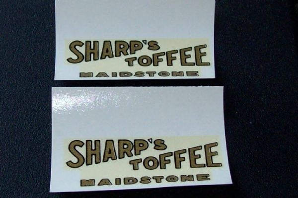 "Dinky Toys 28 Series Type 1 van ""SHARP'S TOFFEE MAIDSTONE"" Transfer Set TRANSFERS / DECALS"